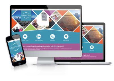 Nettside og brosjyre: Sognhostel